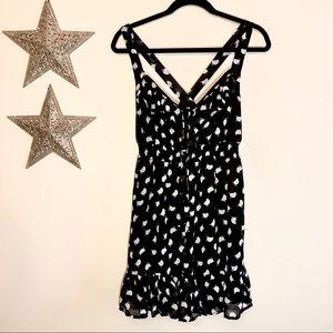 Hot Topic Little Birds Tie Front Crisscross Dress